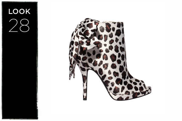 Peep toe booties in leopard print