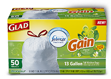 Glad Trash Bags with Gain Scent Original