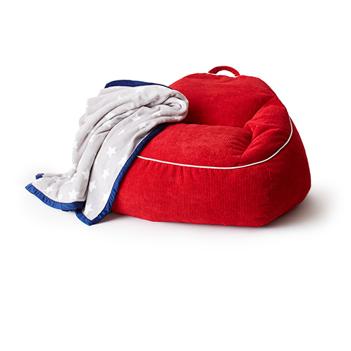 Explorers Escape XL Red Courduroy Bean Bag Chair