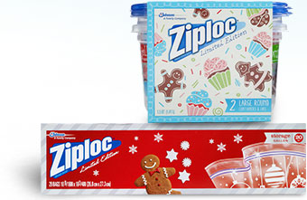 Ziploc holiday bags and bowls