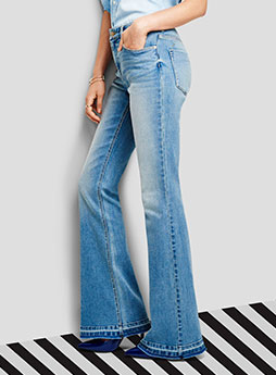 womens denim flare
