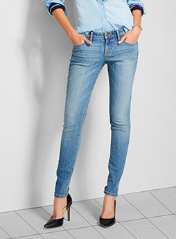 womens denim skinny