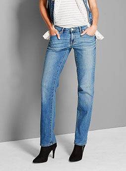 womens denim straight